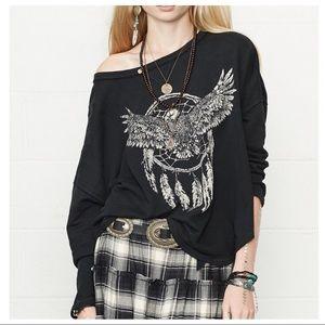 Ralph Lauren Denim & Supply Sweatshirt Black Lace